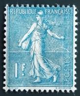 France Y&T 205 Semeuse Lignée 1 F Bleu  Neuf Sur Charnière TBE - 1903-60 Semeuse Lignée