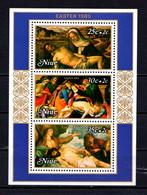 NIUE    1980    Easter  Paintings     Sheetlet     MNH - Niue