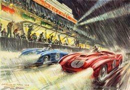 24 Heures Du Mans - 1954  - Artwork By Geo Ham -   15x10cms PHOTO - Le Mans