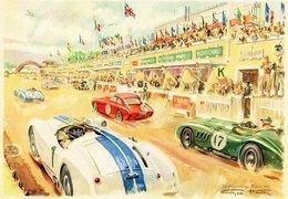 24 Heures Du Mans - 1954  - Artwork By Geo Ham -   15 X 10 Cms PHOTO - Le Mans