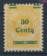 Memelgebiet 223 Avec Charnière 1923 Numéro Complémentaire (9258364 (9258364 - Klaipeda