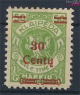 Memelgebiet 226 Avec Charnière 1923 Numéro Complémentaire (9258361 (9258361 - Klaipeda