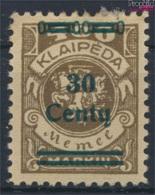 Memelgebiet 228 Avec Charnière 1923 Numéro Complémentaire (9258359 (9258359 - Klaipeda