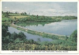 THE RIVER SLANEY WITH THE ROAD TO NEW ROSS - FERRYCARRIG, WEXFORD, IRELAND - Wexford