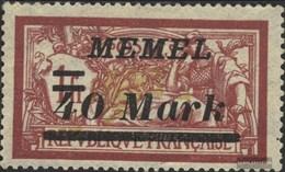 Memelgebiet 116 Con Fold 1922 Francobolli - Memelgebiet