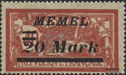 Memelgebiet 114 Con Fold 1922 Francobolli - Memelgebiet