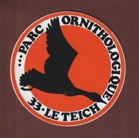 Autocollant - PARC ORNITHOLOGIQUE à LE TEICH. 33 - Autocollants