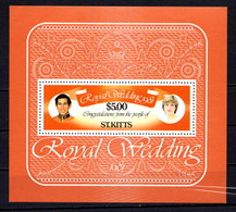 SAINT  KITTS    1981    Royal  Wedding    Sheetlet     MNH - St.Kitts-et-Nevis ( 1983-...)