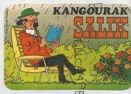Auto-collants Publicitaires. Salik. Tournesol Lit Un Livre Sous La Pluie. - Autres Collections