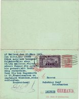 LSAU13 - CPRP MICHETTI 40c AVEC TPM 40c MILAN / LIEPZIG 30/3/1926 REPONSE NON UTILISEE - 1900-44 Victor Emmanuel III
