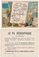 CHROMO - Département De L'AISNE - Publicité Le Fil Géographique - Andere
