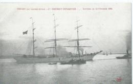 Boot - Boat - Bateau - Ship - Schiff - Départ Du Navire-Ecole Cte Desmet-Denaeyer - Anvers Le 12 Février 1905 - Guerre