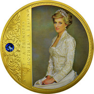 United Kingdom , Médaille, Portraits De La Princesse Diana, SUP, Copper Gilt - Altri
