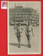 STRASBOURG CARTE PHOTO Deux Militaires 153è Regiment Infanterie Hôtel Terminus GRUBER TRAMWAY - Strasbourg