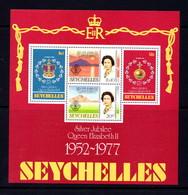 SEYCHELLES    1977    Silver  Jubilee    Sheetlet     MNH - Seychelles (1976-...)