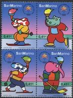 San Marino 2002 Yvertn° 1793-1796 *** MNH Cote 8,00  Euro Jeux Olympiques Salt Lake City - Unused Stamps