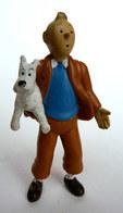 FIGURINE TINTIN  PLASTOY 1994 TINTIN & ET MILOU 1ER TIRAGE (2) Plastique Mou - Tintin