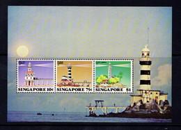 SINGAPORE   1982    Lighthouse     Sheetlet     MNH - Singapore (1959-...)
