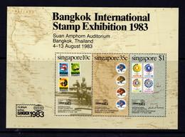 SINGAPORE   1983    Bankok  International  Stamp  Exhibition     Sheetlet     MNH - Singapore (1959-...)