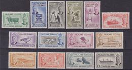 623 * Falkland 1949 Giorgio VI, Soggetti Vari, SG N. 172/185. Cat. £ 180,00. MH - Falkland