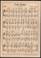 "POSTKARTE ORIGINAL WWII GERMAN MILITARY SONG ""Sant Michael"" - Altri"