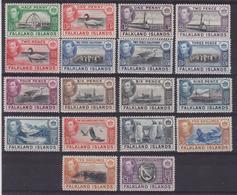 622 * Falkland 1938 Giorgio VI, Soggetti Vari, SG N. 146/863. Cat. £ 475,00. MH - Falkland