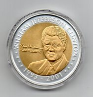 Stati Uniti - Medaglia Presidenti - William Jefferson Clinton (1993/2001) - Dorata - In Capsula - (MW1911) - Etats-Unis