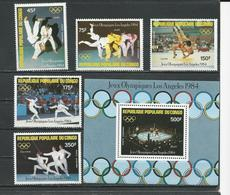 CONGO Scott C323-C327, C328 Yvert PA320-PA324, BF35 (5+bloc) ** Cote 12,50 $ 1984 - Congo - Brazzaville