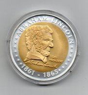 Stati Uniti - Medaglia Presidenti - Abraham Lincoln (1861/1865) - Dorata - In Capsula - (MW1912) - Stati Uniti