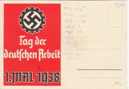 """Propaganda Karte ,  """" Tag Der Deutschen Arbeit ! 1. Mai 1938 - Deutschland"""