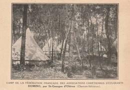 CPA:DOMINO (17) TENTES AU CAMP DE LA FÉDÉRATION FRANÇAISE ASSOCIATION CHRÉTIENNES D'ÉTUDIANTS. ÉCRITE - France