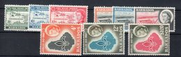 Barbados / Barbade 1958-1961-1962 Ordinaria (Yvert.226/234) **MNH /VF - Barbados (...-1966)
