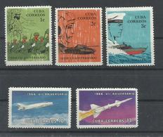 CUBA  YVERT  950/54   MNH  ** - Cuba