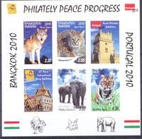 2010. Tajikistan, Animals, Philatelic Exhibitions Bangkok 2010 & Portugal 2010, S/s Imperforated, Mint/** - Tadschikistan