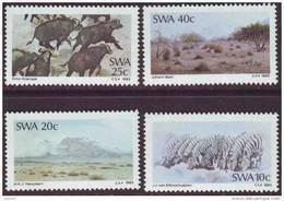 D90819 South West Africa 1983 ART PAINTINGS ZEBRA Buffalow Animals MNH Set  - Namibia SWA Namibie - Namibie (1990- ...)