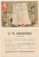 CHROMO - Département De La MANCHE - Publicité Le Fil Géographique - Andere