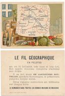 CHROMO - Département De La MARNE - Publicité Le Fil Géographique - Andere