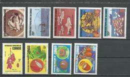 CONGO Scott 711-715, 729-732 Yvert 738-742, 751-754 (9) ** Cote 7,50 $ 1984-5 - Congo - Brazzaville