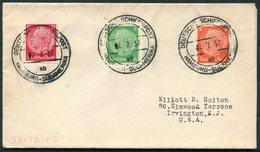 1937 DR Deutsche Seepost Hamburg Sudamerika SANTA FE Ship Schiffspost Cover + Letter - Briefe U. Dokumente