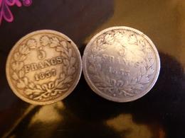 LOT 2 ECUS LOUIS PHILLIPPE 33M ET35A - Coins & Banknotes