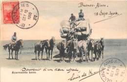 Argentine - Ethnic H.C / Belle Oblitération -129 - Acarrendo Lana - Beau Plan Diligence - Argentina