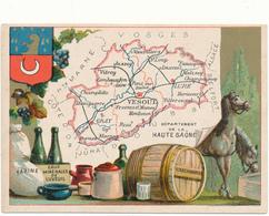 CHROMO - Département De La HAUTE SAONE - Publicité Le Fil Géographique - Kaufmanns- Und Zigarettenbilder