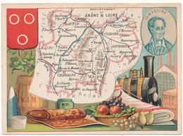 CHROMO - Département De La SAONE ET LOIRE - Publicité Le Fil Géographique - Andere