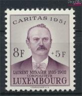 Luxemburg 487 Postfrisch 1951 Caritas (9256412 - Luxemburg
