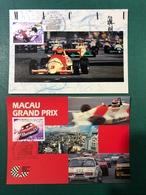 MACAU - 2003 MACAU GRAND PRIX 50TH YEARS ANNIVERSARY MAXIMUM POST CARDS X 2 CARDS - Chine