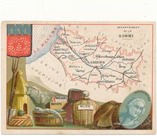 CHROMO - Département De La SOMME - Publicité Le Fil Géographique - Trade Cards