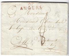 LAC De 1820 - Marque Rouge 47 Angers (MAINE & LOIRE) - TAXE - 1877-1920: Semi-moderne Periode