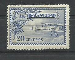 COSTA RICA YVERT AEREO 1  MH  * - Costa Rica
