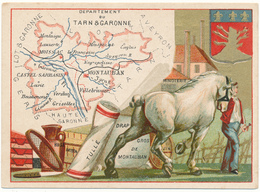 CHROMO - Département Du TARN ET GARONNE - Publicité Le Fil Géographique - Kaufmanns- Und Zigarettenbilder