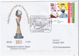 Germany Cover Football World Cup Women Germany P/m Frankfurt Am Main 2011 Titelgewinn Du (DD24-27) - Voetbal